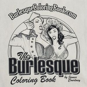 Burlesque Coloring Book Tote Bag